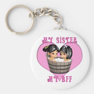 My Sister MY BFF Bath Keychain