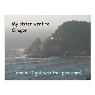 My Sister Went to Oregon... Postcard