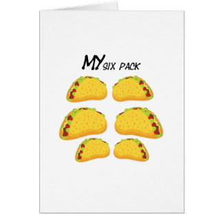 My Six Pack Funny Taco Fitness  Workout Gym Card