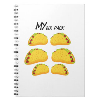 My Six Pack Funny Taco Fitness  Workout Gym Spiral Notebook