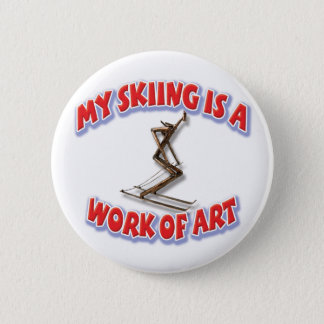 My Skiing Is A Work Of Art 2 Inch Round Button