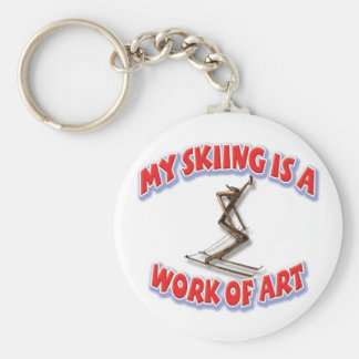 My Skiing Is A Work Of Art Keychain