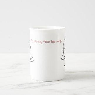 My sleepy time tea mug. bone china mug