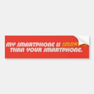 My Smartphone Is Smarter bumper sticker