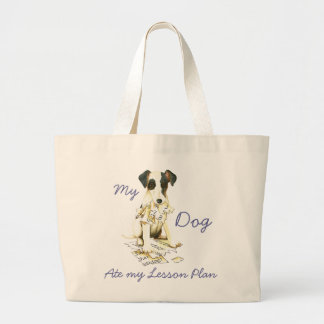 My Smooth Fox Terrier Ate My Lesson Plan Jumbo Tote Bag