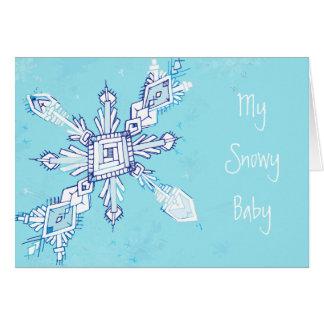 My Snowy Baby Greeting Card