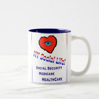 My Social Life Two-Tone Coffee Mug