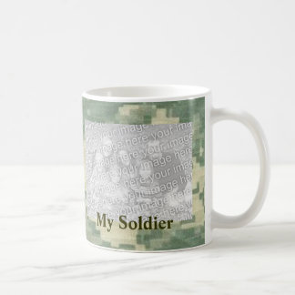 My Soldier Custom Personalized Military Basic White Mug