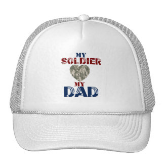 My Soldier My Dad Camoheart Trucker Hat
