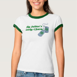 My Soldier's Lucky Charm Ringer T-Shirt