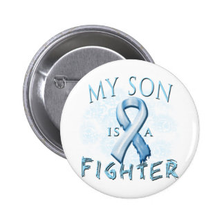 My Son is a Fighter Light Blue Buttons