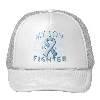 My Son is a Fighter Light Blue Mesh Hat