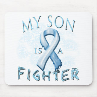 My Son is a Fighter Light Blue Mouse Pad