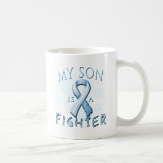 My Son is a Fighter Light Blue Mugs