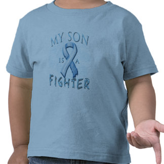 My Son is a Fighter Light Blue Tshirt