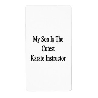 My Son Is The Cutest Karate Instructor Personalized Shipping Labels