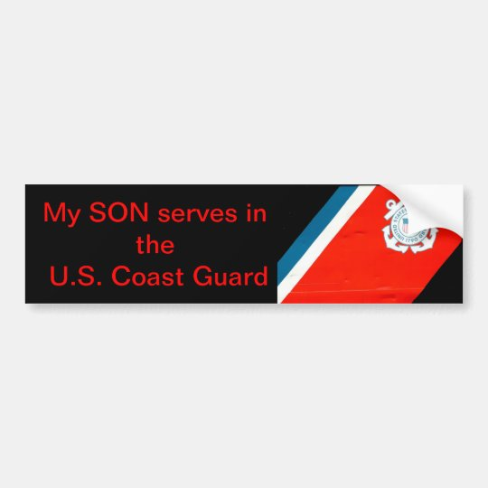my son serves the USCG Bumper Sticker