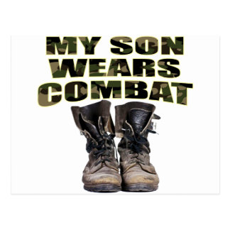 My Son Wears Combat Boots Postcard