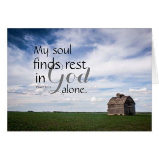 My Soul Finds Rest Card
