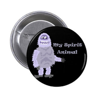 My Spirit Animal Abominable Snowman Cartoon 2 Inch Round Button