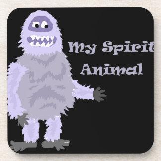 My Spirit Animal Abominable Snowman Cartoon Coaster