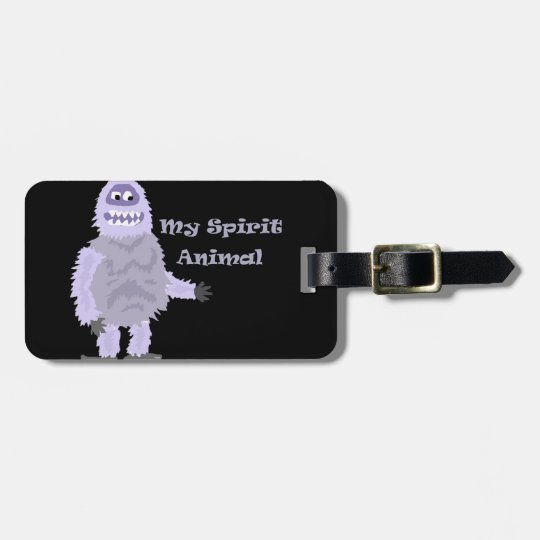 My Spirit Animal Abominable Snowman Cartoon Luggage Tag