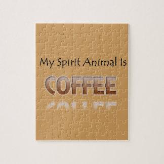 My Spirit Animal Is Coffee Jigsaw Puzzle