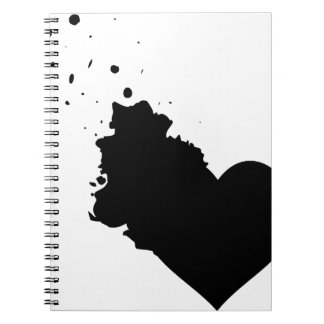 My Splattered Heart notebook