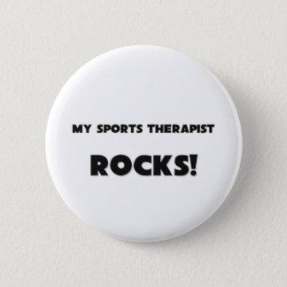 MY Sports Therapist ROCKS! 2 Inch Round Button