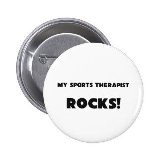 MY Sports Therapist ROCKS! 2 Inch Round Button