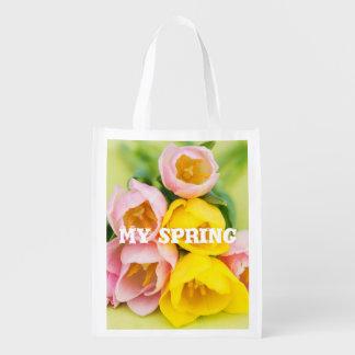 My spring reusable grocery bag
