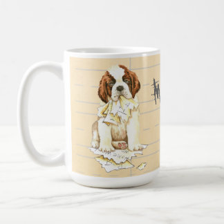 My St. Bernard Ate my Homework Coffee Mug