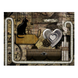 My Steampunk Heart Postcard