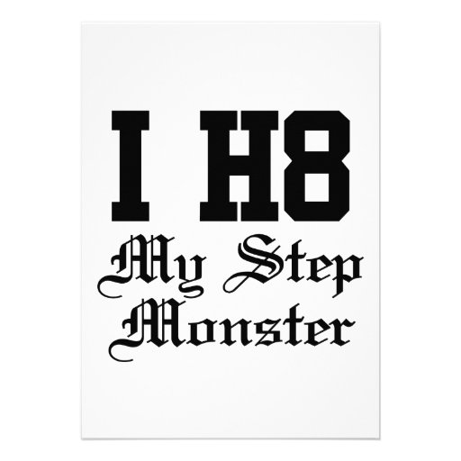 my step monster personalized announcement