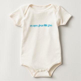 My Story Gives HIM Glory Baby Bodysuit