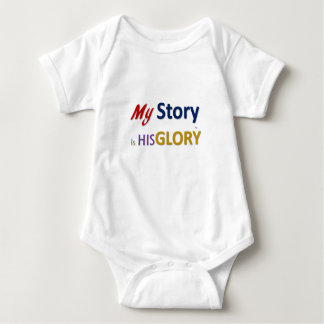 My Story is HIS Glory (tm) Baby Bodysuit