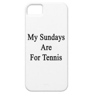 My Sundays Are For Tennis iPhone 5 Cover