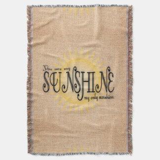 My Sunshine on Burlap Throw Blanket