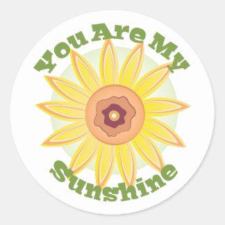 My Sunshine Round Sticker