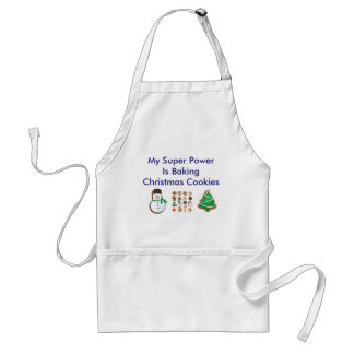 My Super Power Is Baking Christmas Cookies Apron