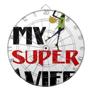my super wife dartboard