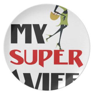 my super wife plate