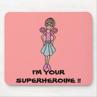 My superheroine mouse pad