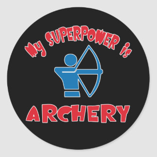 My Superpower is Archery Classic Round Sticker