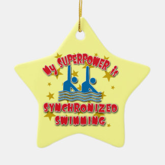 My Superpower is Synchronized Swimming Ceramic Star Ornament
