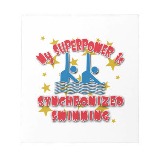 My Superpower is Synchronized Swimming Notepads