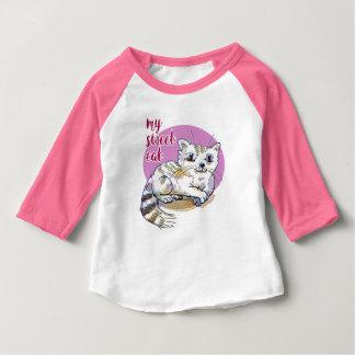 my sweet cat cartoon style illustration baby T-Shirt