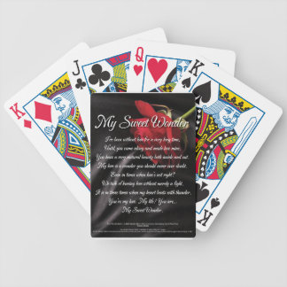 My Sweet Wonder Poetry Poster Bicycle Playing Cards