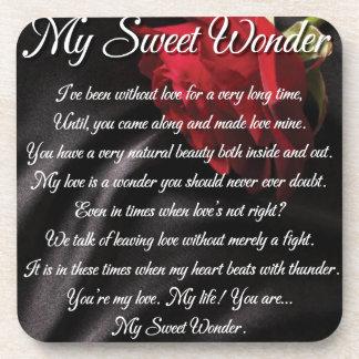 My Sweet Wonder Poetry Poster Coaster