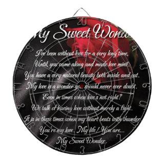 My Sweet Wonder Poetry Poster Dartboard